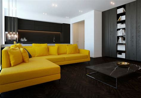 yellow and black living room 30 awesome living room color schemes creativefan