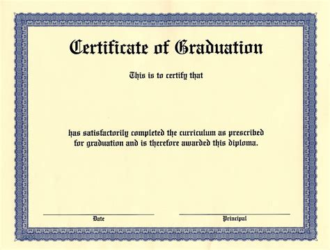 certificate of graduation template 10 best images of blank graduation certificate blank