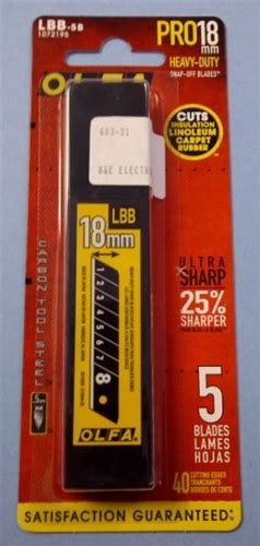 Olfa Hbb 20b Ultra Sharp Heavy Duty Blade olfa lbb 5b ultra max hd blades 683 31