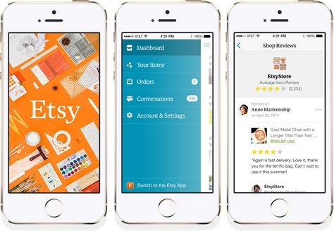 etsy for android etsy s mobile apps for android and ios