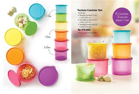 Texture Canister Set Tupperware texture canister set tupperware katalog promo tupperware