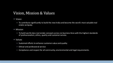 Dlf Building India Real Estate Mission Statement Template
