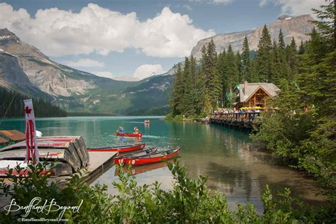 canoe and boat rentals emerald lake canoes trails food cabins banffandbeyond