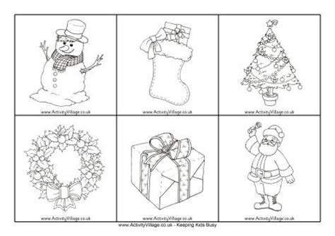 printable christmas cards activity village christmas picture cards black and white