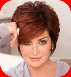 the short red brown sharon osbourne hairstyles