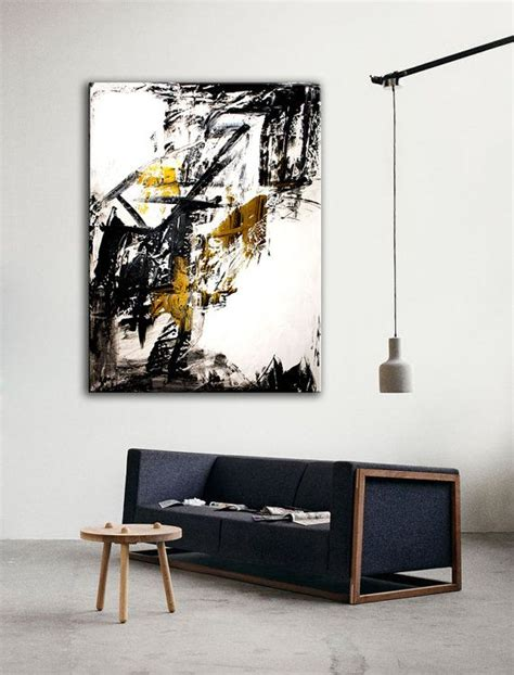 White Gold Abstract Top Size Sml abstract painting original painting white black gold colored acry