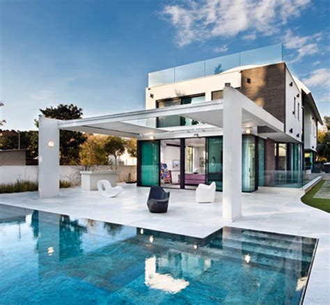 modern house plans with pool contemporary mediterranean house a private paradise