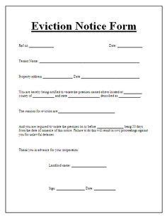 printable eviction notice indiana pin by anne bransford on eviction notice forms pinterest