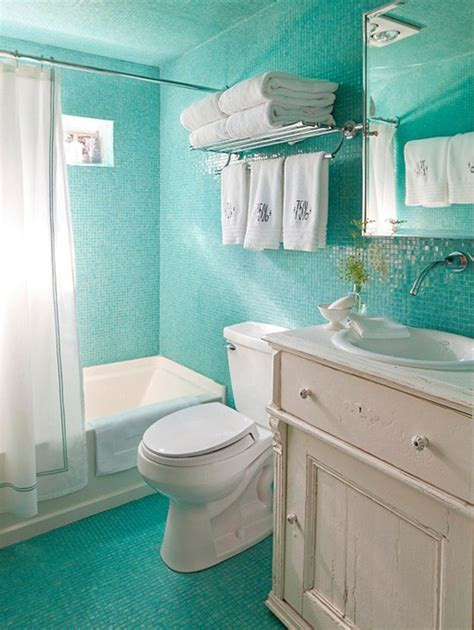 Blue Tiled Bathroom Pictures by Bhg Centsational Style