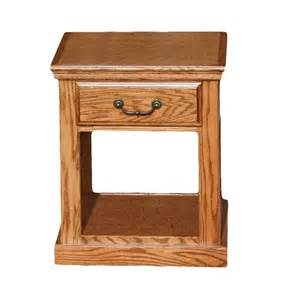 Oak End Tables Od O T248 Traditional Oak End Table With 1 Drawer Bottom Shelf Oak End Tables In Arizona Oak