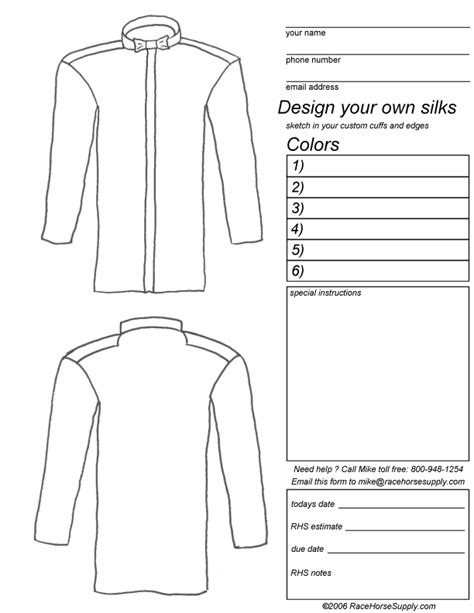 design your own custom racing jockey silks
