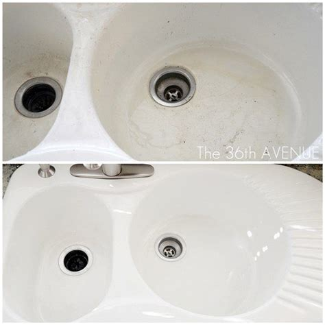 How To Whiten Bathtub 1000 Ideas About Cleaning Porcelain Sink On Pinterest