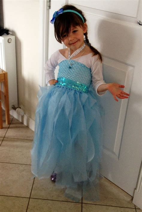 Elsa Handmade Costume - elsa dress no sew all about my s