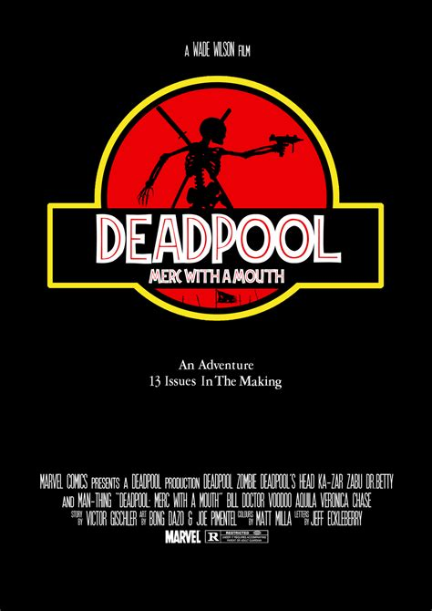 Bookcover Universal 7 0 deadpool merc with a jurassic park cover by