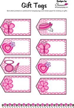 printable name tags for gift bags favor tag barbie gift tags free printable ideas from