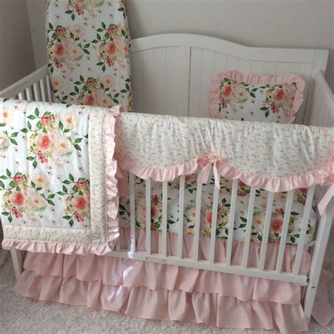 Blush Baby Bedding by Baby Bedding Crib Set Coral Blush Pink Watercolor