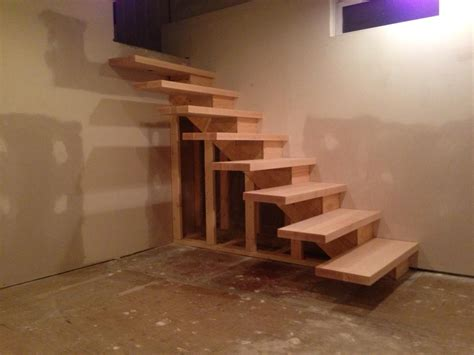 diy steps how to build floating stairs handy