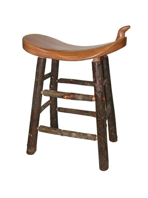 oak saddle bar stools 24 quot rustic cabin hickory oak western saddle bar stool seat