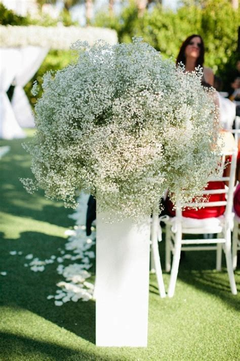 Baby S Breath Wedding Aisle by Santorini Wedding Inspiration 15 Ways To Decorate Your