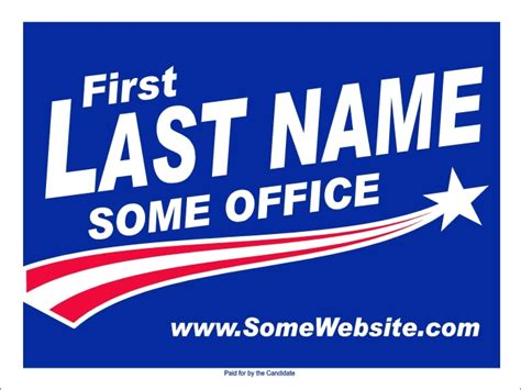 Political And Election Yard Signs Templates A G E Graphics Election Caign Template