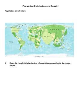 population density worksheet population distribution density worksheet answer key