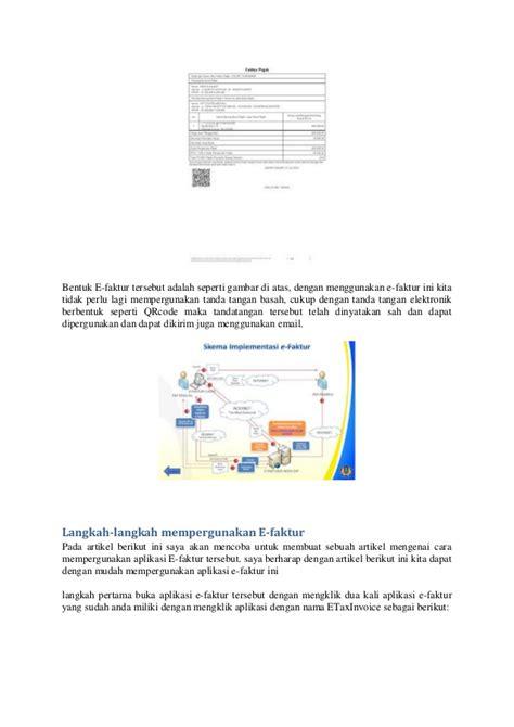 membuat faktur pajak elektronik cara pakai e faktur pajak dan cara membuat faktur pajak