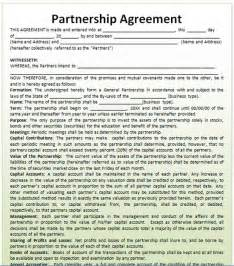 Business Partnership Agreement Template by Partnership Agreement Template Microsoft Word Templates