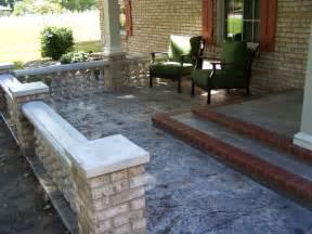 Concrete front porch makeover baluster amp floor designs