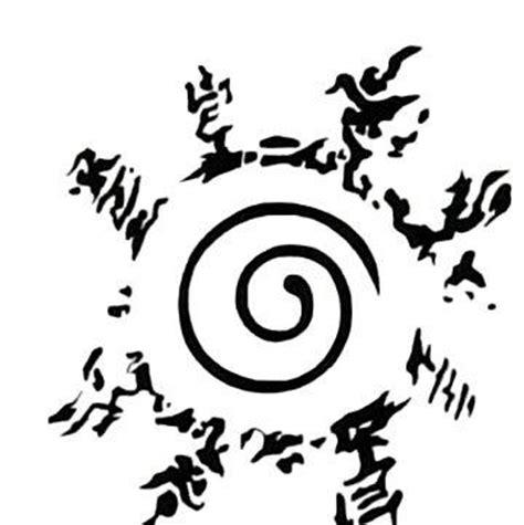 le tatoo de naruto le sceau qui retient prisonnier ky 251 bi