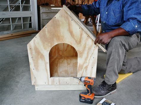 how to put shingles on a dog house how to build a simple gabled roof doghouse how tos diy
