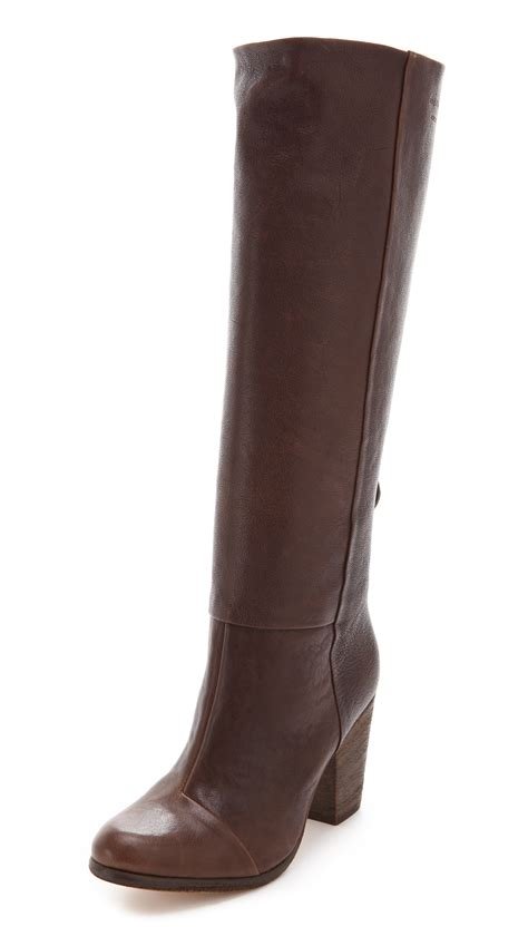 rag and bone boots rag bone knee high newbury boots in brown brown