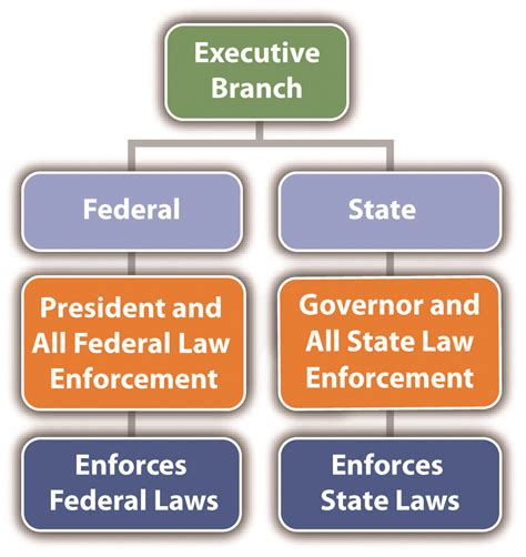 diagram of executive branch the system in the united states