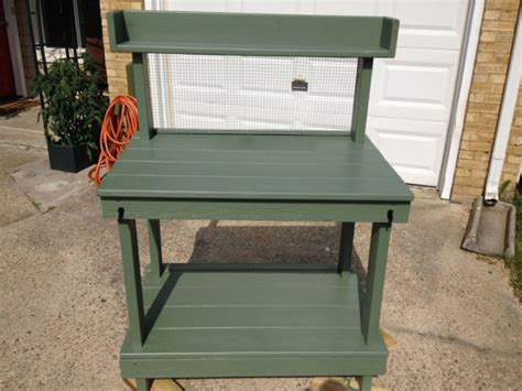 build potting bench diy potting bench free garden plans how to build