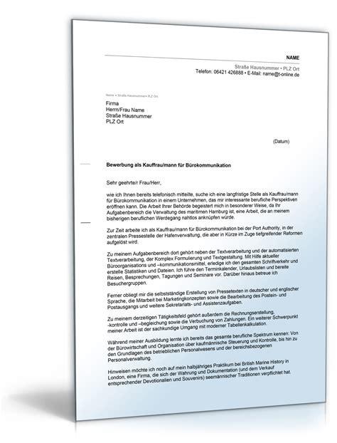 Bewerbungsschreiben Ausbildung Kaufmann Für Büromanagement Bewerbung Kauffrau F 252 R B 252 Rokommunikation Yournjwebmaster