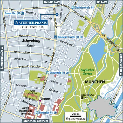 Englischer Garten München Karte Pdf by Karte M 252 Nchen Schwabing Grebemaps 174 Kartographie