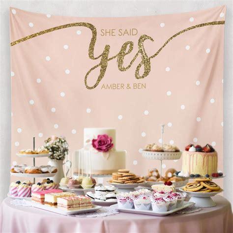 custom wedding tapestries for dessert backdrops and photo