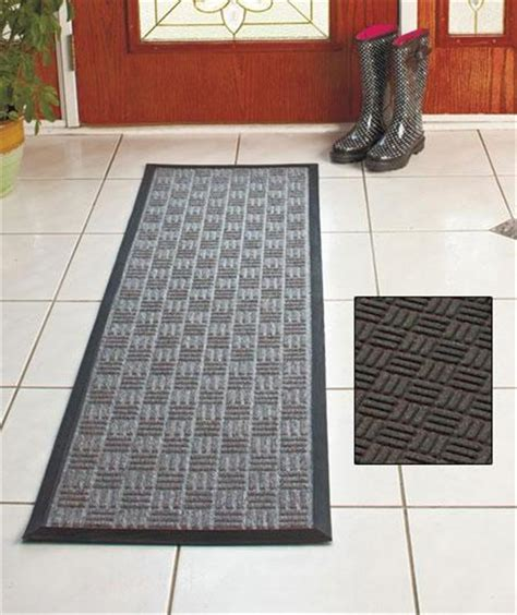 Utility Runner Rugs Indoor Outdoor Utility Runner Rug Ribbed Design Rubber Backing 3 Colors Ebay