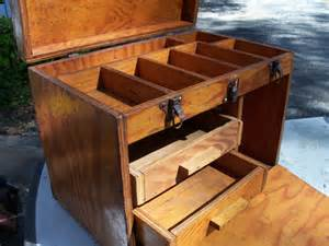 rustic wooden tool box handmade tool chest