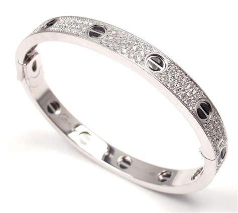cartier white gold cearamic bangle bracelet