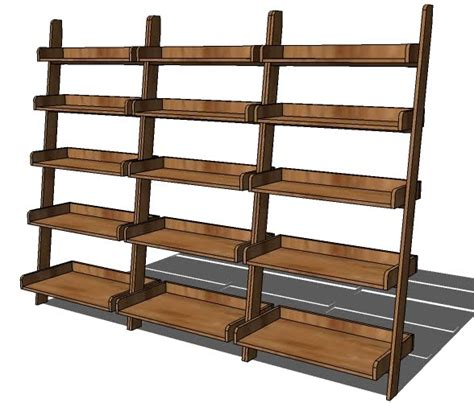 build a leaning wall shelf with plans from knock wood