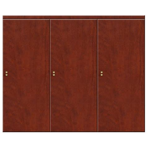 90 Closet Doors by Impact Plus 90 In X 84 In Smooth Flush Cherry Solid