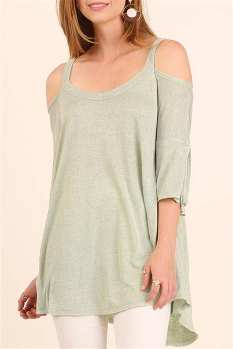 Cold Shoulder Tunic umgee usa cold shoulder tunic from by turquoise