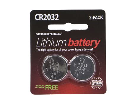 Baterai Cr2032 3v monoprice cr2032 3v lithium battery 2 pack monoprice