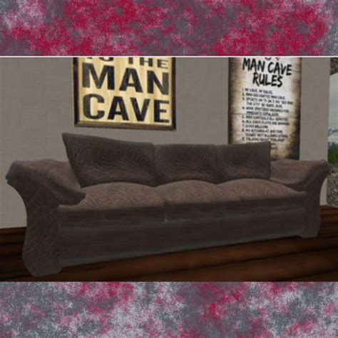 leather couch wearing out second life marketplace dad s overstuffed worn out