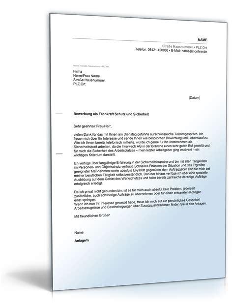 Anschreiben Ausbildung Fachkraft Fur Lagerlogistik Muster Anschreiben Bewerbung Fachkraft F 252 R Schutz Und Sicherheit