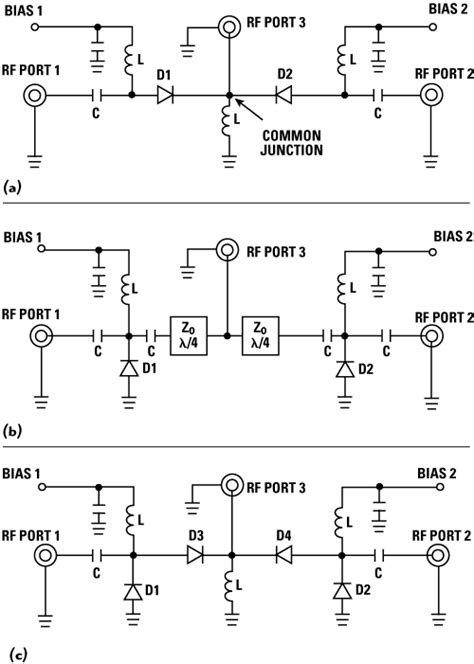 pin diode switch circuit figure 1 series pin spdt switch a shunt pin spdt switch b and series shunt pin spdt switch