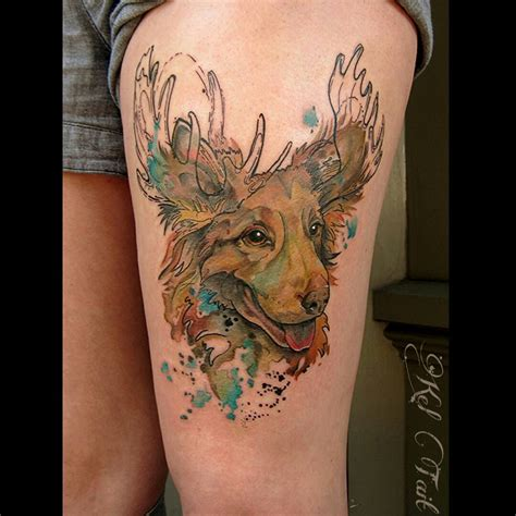 tattooed moose moose best ideas gallery