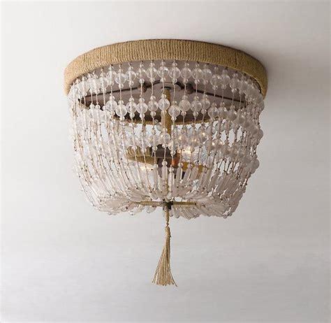 beaded flush mount light amelie flushmount