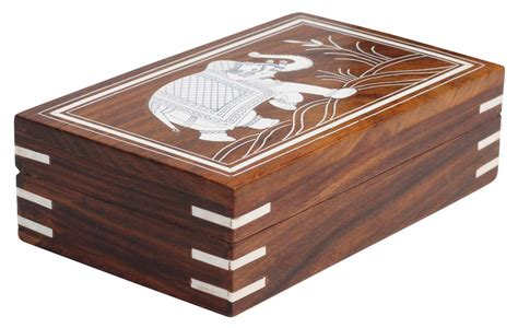 Box Handmade - wholesale 7x5 wood elephant jewelry box in bulk