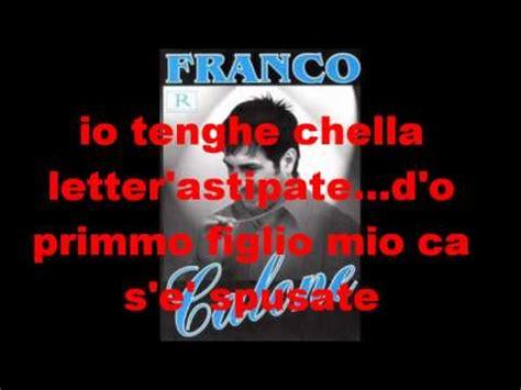 franco calone pulita testo pulita karaoke doovi